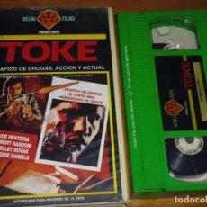 Cine: TOKE . TRAFICO DE DROGAS - JOE RENTERIA, ROBERT RANDOM - VHS. Lote 207238142