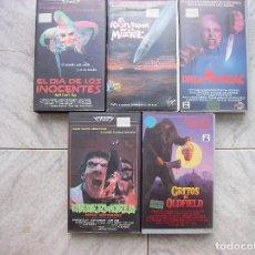 Cine: LOTE 5 TITULOS VHS EL DIA DE LOS INOCENTES UNDERWORLD. Lote 207305060