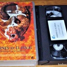 Cine: VIERNES 13 . EL FINAL. JASON SE VA AL INFIERNO . TERROR - VHS. Lote 207341860