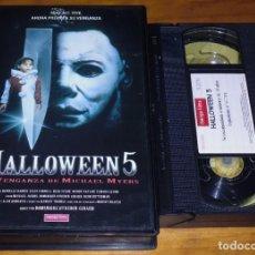 Cine: HALLOWEEN 5 . TERROR - VHS CAJA GRANDE. Lote 207342022