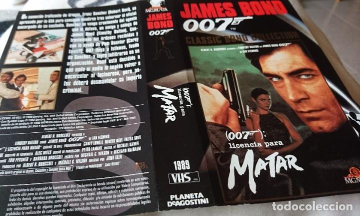 CARÁTULA VIDEO LICENCIA PARA MATAR, J.BOND 007 (Cine - Películas - VHS)