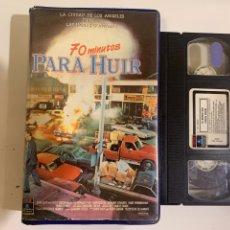 Cinéma: 70 MINUTOS PARA HUIR PELÍCULA VHS PRIMERA EDICIÓN. Lote 208110830
