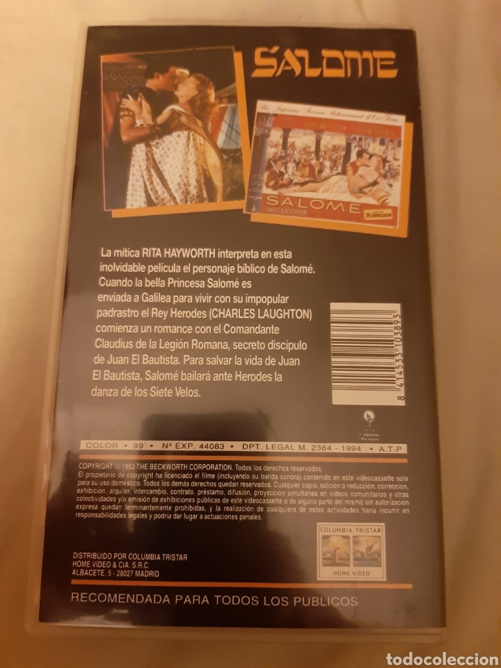 Cine: VHS Salome (1.953) - Foto 2 - 208428707