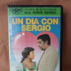 Cine: UN DIA CON SERGIO - LINA MORGAN, ANTONIO OZORES. VHS. Lote 208437348
