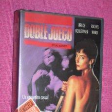 Cine: DOBLE JUEGO (RACHEL WARD, BRUCE BOXLEITNER, SALLY KIRKLAND, TOM EVERETT) * FILM VHS THRILLER. Lote 209291132