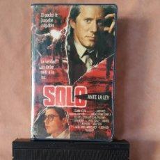 Cine: SOLO ANTE LA LEY. VHS. Lote 209793228