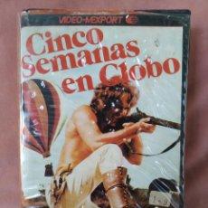 Cine: CINCO SEMANAS EN GLOBO. VHS. Lote 209837120