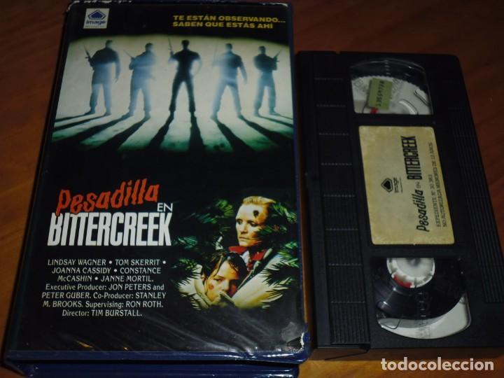 PESADILLA EN BITTERCREEK - LINDSAY WAGNER - TOM SKERRIT , JOANNA CASSIDY - TERROR - VHS (Cine - Películas - VHS)