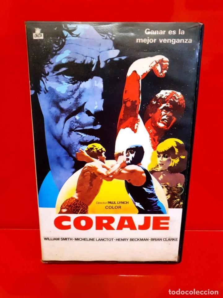 CORAJE (1978) - PAUL LYNCH - MICHELINE LANCTOT [ONZA FILMS - RAREZA LUCHA LIBRE] (Cine - Películas - VHS)