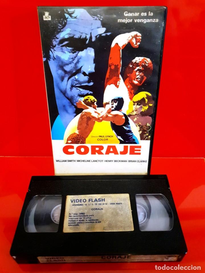 Cine: CORAJE (1978) - PAUL LYNCH - MICHELINE LANCTOT [ONZA FILMS - RAREZA LUCHA LIBRE] - Foto 3 - 210356335