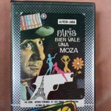 Cine: PARIS BIEN VALE UNA MOZA - ALFRENDO LANDA - VHS - CAJA GRANDE. Lote 210415828