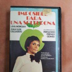 Cine: IMPOSIBLE PARA UNA SOLTERONA - LINA MORGAN - VHS. Lote 210416510