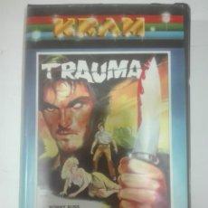 Cine: VHS TRAUMA RONNY RUSS DAFNE PRICE TIMOTHY WOOD DIRIGIDA POR JOHN MARTUCC SG PRODUCCIONES KRAM TERROR. Lote 210425758
