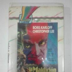 Cine: VHS LA MALDICION DEL ALTAR ROJO BORIS KARLOFF CHRISTOPHER - 1968 - CULTE OF THE CRISMON ALTAR. Lote 210427073