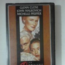 Cine: VHS PELICULA LAS AMISTADES PELIGROSAS JOHN MALKOVICH LOS OSCARS DE HOLLYWOOD Nº 4 1980 - 1989. Lote 210429493