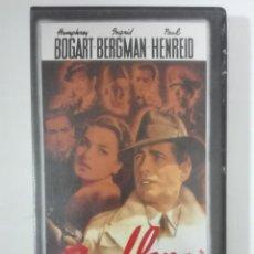 Cine: VHS PELICULA CASABLANCA HUMPHREY BOGART INGRID BERGMAN LOS OSCARS DE HOLLYWOOD Nº 5 1943 - 1985. Lote 210429581