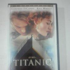 Cine: VHS LA PELICULA TITANIC LEONARDO DI CAPRIO KATE WINSLET DE JAMES CAMERON. Lote 210790794