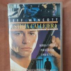 Cine: JUSTICIA CALLEJERA - VHS. Lote 210792996