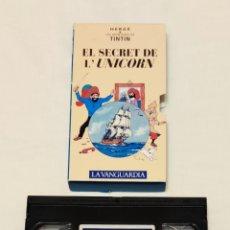 Cine: PELÍCULA CINTA VHS TINTÍN. EL SECRET DE L'UNICORN. LA VANGUARDIA. VOL 12. VMH. Lote 210982632