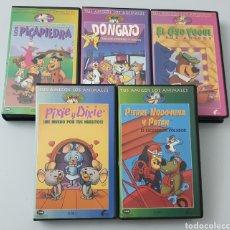 Cine: LOTE 5 VHS DIBUJOS HANNA BARBERA (PICAPIEDRAS, DON GATO, OSO YOGUI, PIXIE DIXIE, PIERRE NODOYUNA. Lote 210982652