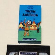 Cine: PELÍCULA CINTA VHS TINTÍN. TINTI A AMÉRICA. LA VANGUARDIA. VOL 20. VMH. Lote 210982686