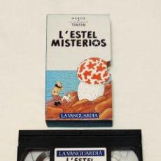 Cine: PELÍCULA CINTA VHS TINTÍN. L'ESTEL MISTERIOS. LA VANGUARDIA. VOL 21. VMH. Lote 210982752