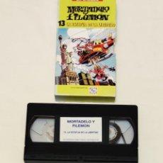 Cine: PELÍCULA CINTA VHS MORTADELO Y FILEMÓN. VOL 13. HELADOS FRIGO.EL PERIÓDICO.LA ESTATUA DE LA LIBERTAD. Lote 210982982