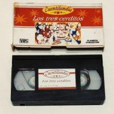 Cine: CINTA VHS CUENTO LOS TRES CERDITOS. PLANETA AGOSTINI. Lote 210983009