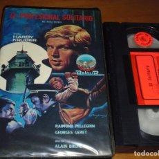 Cine: EL PROFESIONAL SOLITARIO - HARDY KRUGER, RAIMOND PELLEGRIN, ALAIN BRUNET - VHS. Lote 211526465