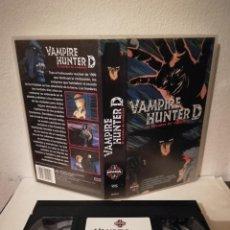 Cine: VHS ORIGINAL - VAMPIRE HUNTER D EL CAZADOR DE VAMPIROS - ANIME MANGA. Lote 211628709
