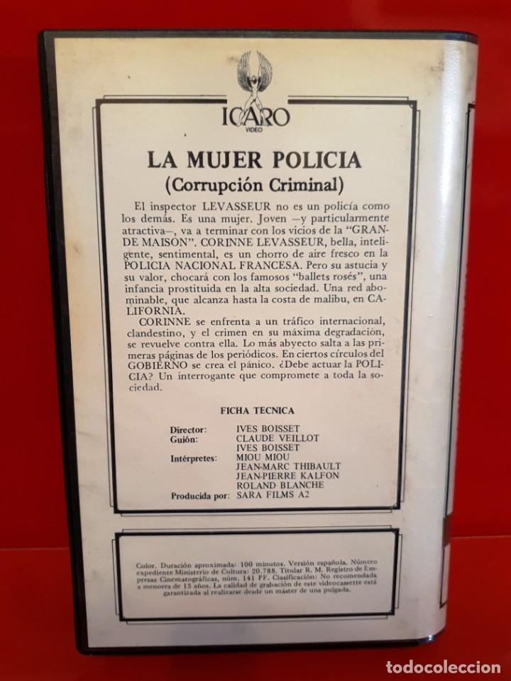 Cine: LA MUJER POLICÍA (1980) IVES BOISSET - MIOU MIOU - ÍCARO VÍDEO - Foto 2 - 211937618