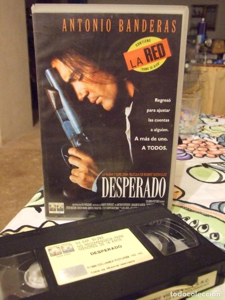 DESPERADO - ROBERT RODRIGUEZ - ANTONIO BANDERAS , SALMA HAYEK - COLUMBIA 1996 (Cine - Películas - VHS)