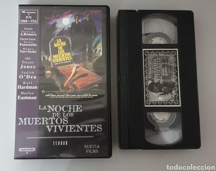 VHS - LA NOCHE DE LOS MUERTOS VIVIENTES - SUEVIA FILMS (Cine - Películas - VHS)