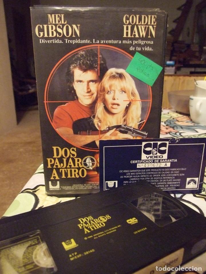 DOS PAJAROS DE UN TIRO - JOHN BADHAM - MEL GIBSON , GOLDIE HAWN - CIC 1991 (Cine - Películas - VHS)