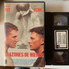 Cinéma: CORAZONES DE HIERRO MICHAEL J FOX PELÍCULA VHS PRIMERA EDICIÓN. Lote 212414200
