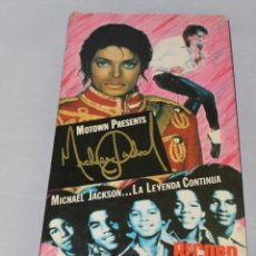 Cine: MICHAEL JACKSON LA LEYENDA CONTINUA FORMATO VHS MOTOWN PRODUCTIONS 1988. Lote 212415243