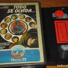 Cine: TODO SE OLVIDA - PASCAL VIDAL, YVES BENEYTON, BRUNO CREMER, CHRISTINE PASCAL - VHS. Lote 212842677