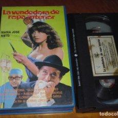 Cine: LA VENDEDORA DE ROPA INTERIOR - MARIA JOSE NIETO, GERMAN LORENTE - VHS. Lote 213073036