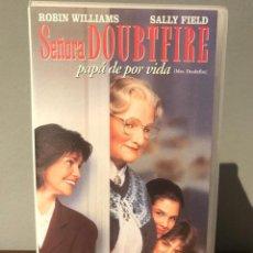 Cine: PELICULA VHS SEÑORA DOUBTFIRE PAPA DE POR VIDA DE ROBIN WILLIAMS. Lote 213362381