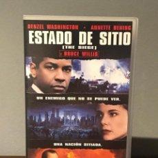 Cine: PELICULA VHS ESTADO DE SITIO CON DENZEL WASHINGTON- ANNETTE BENING - BRUCE WILLIS. Lote 213364120