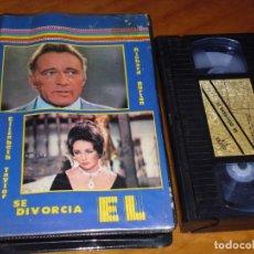 Cine: SE DIVORCIA EL - RICHARD BURTON, ELIZABETH TAYLOR - VHS. Lote 213377933