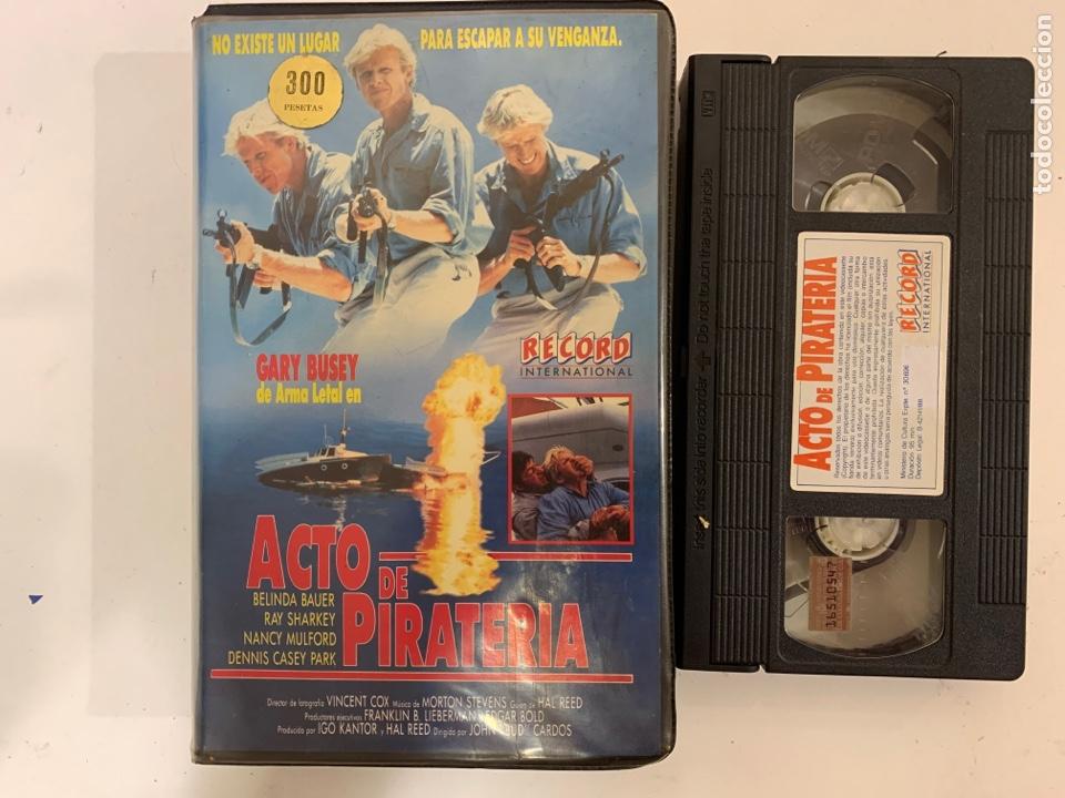 ACTO DE PIRATERÍA GARI BUSEY VHS (Cine - Películas - VHS)
