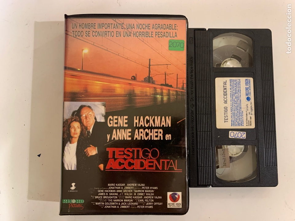 TESTIGO ACCIDENTAL VHS RECORD VÍDEO (Cine - Películas - VHS)