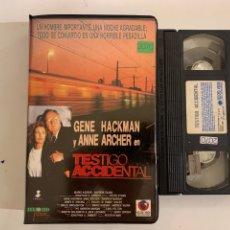 Cinéma: TESTIGO ACCIDENTAL VHS RECORD VÍDEO. Lote 213443865