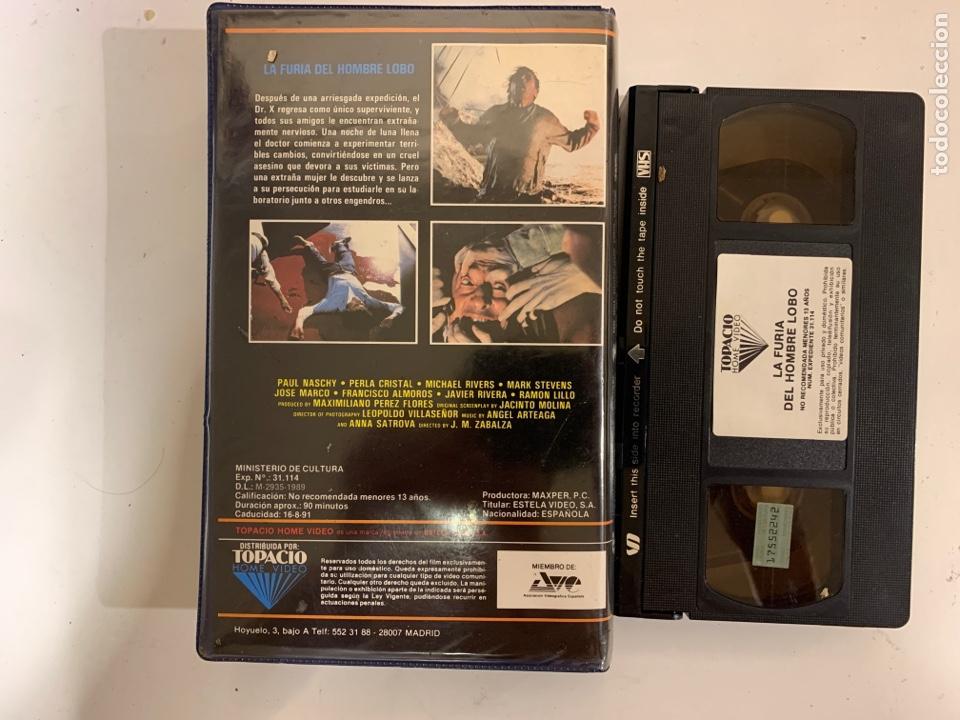 Cine: La furia del hombre lobo VHS José María Zabalza Jose Fernández - Foto 3 - 213443908