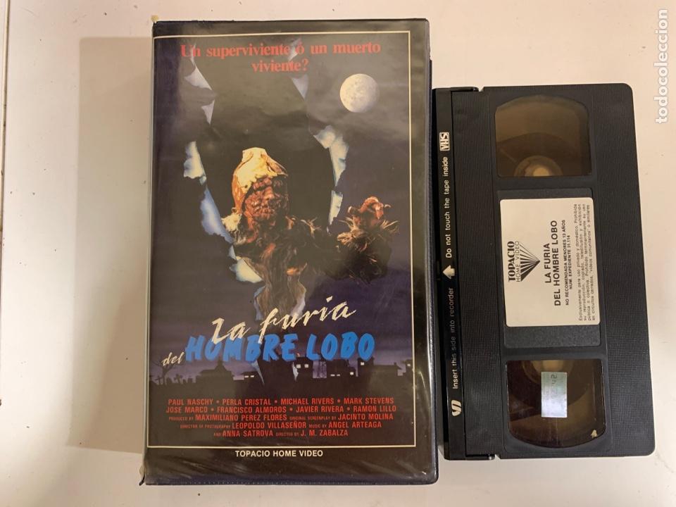 LA FURIA DEL HOMBRE LOBO VHS JOSÉ MARÍA ZABALZA JOSE FERNÁNDEZ (Cine - Películas - VHS)