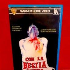 Cine: CON LA BESTIA DENTRO (1982) - THE BEAST WITHIN - TERROR VHS. Lote 213449726