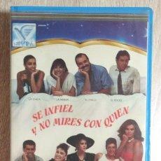 Cine: VHS - SE INFIEL Y NO MIRES CON QUIEN - ANA BELÉN, CARMEN MAURA, ANTONIO RESINES, FERNANDO TRUEBA. Lote 213515012