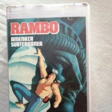 Cine: VHS - RAMBO AMENAZA SUBTERRÁNEA ANIMACIÓN (BUEN ESTADO). Lote 213697460