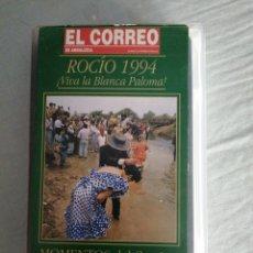 Cine: EL ROCÍO 1994 MOMENTOS DEL CAMINO-VIVA LA BLANCA PALOMA. EL CORREO. CARATULA PLÁSTICO.(BUEN ESTADO). Lote 213699723